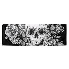 Banner Day Of The Dead Zwart/Wit  (74x220cm)