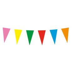 Papieren vlaggenlijn meerkleurig  (10m)