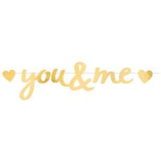Letterslinger Liefde 'You & Me' Goud