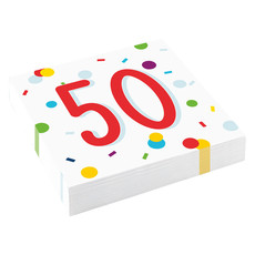 Feestservetten 50 Jaar Confetti (20st)
