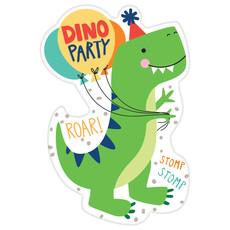 Uitnodigingen Dino-Mite Party (8st)