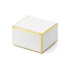 Geschenkdoosjes chique wit met gouden randen (10st)