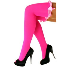 Kousen fluor roze met roze strikken Britney