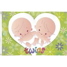 "Gevelvlag ""Twins"" 90x60cm"