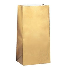 Papieren Gift Bags Goud Metallic (10st)
