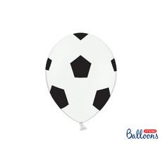 Voetbal Ballonnen Puur wit 30cm (6st)