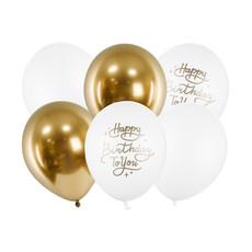 Ballonnen Set Chique Happy Birthday To You 30cm (6st)
