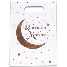Uitdeelzakjes Ramadan Mubarak Wit/Goud (6st)