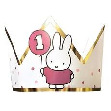 Kroontje Nijntje 1 jaar Roze/Goud