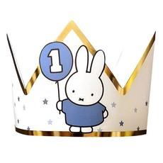 Kroontje Nijntje 1 jaar Blauw/Goud
