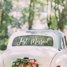 Just Married Auto Sticker