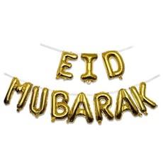 Folieballonnen Slinger Set 'Eid Mubarak' Goud (4m)