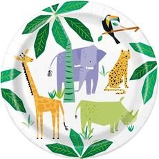 Feestborden Safari Jungle (8st)