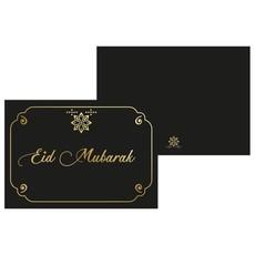 Kaart Eid Mubarak - Zwart/Goud
