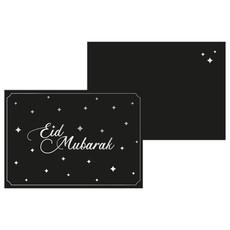 Kaart Eid Mubarak - Zwart/Zilver