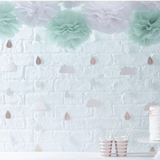 Wolkenhangers Babyshower backdrop (6st)