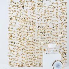 Pastel Gouden Backdrop Bloemengordijn