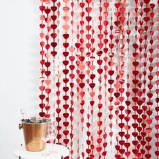 Rode Hartjes Backdrop Gordijn Love