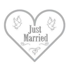 Servetten Just Married hartvorm (20st)