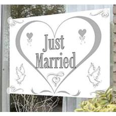 Gevelvlag Just Married 100x150cm