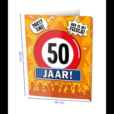 Raambord 50 Jaar Verjaardag (60x45cm)