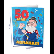 Raambord Abraham 50 Jaar Verjaardag (60x45cm)