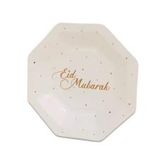 Achthoekige Eid Mubarak Bordjes (18cm)