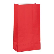 Papieren Giftbags Rood (12st)