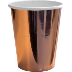 Feestbekers Roségoud Metallic (8st)