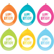 Feestballonnen Happy Birthday Multikleur (6st)