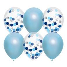 Ballonnen mix Sky Blue 30cm 6st