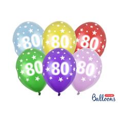 Verjaardag ballonnen 80 jaar Metallic Mix