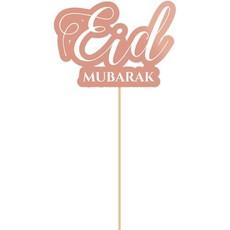 Eid Mubarak Cake topper Rosé Goud (15cm)