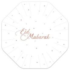 Feestbordjes Eid Mubarak Rosé Goud (8st)