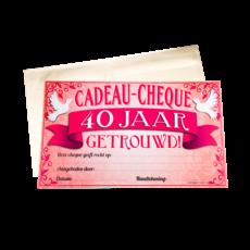 Cadeau Cheque 40 Jaar Getrouwd