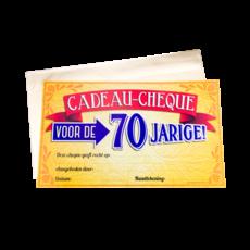 70 Jaar Verjaardag Cadeau Cheque