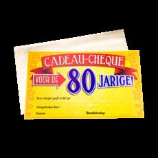 80 Jaar Verjaardag Cadeau Cheque