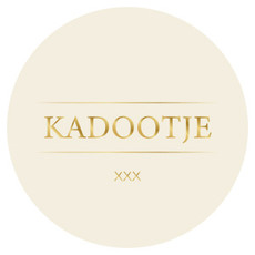 Stickers Rond 'Kadootje' Wit/Goud