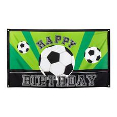 Voetbal Vlag Happy Birthday 150x90cm