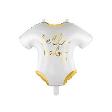 Folieballon baby romper 'Hello Baby'