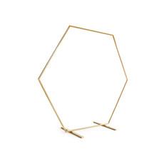 Gouden Backdrop Frame Hexagon 2 meter
