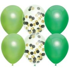 Ballonnenset Groen Confetti (6st)