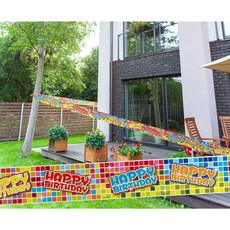 Happy Birthday Blocks Markeerlint (7m)