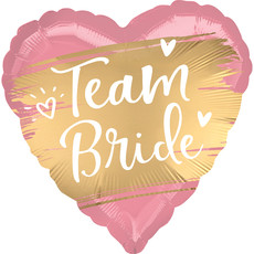 Folieballon Team Bride Roze/Goud (43cm)