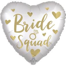 Folieballon Bride Squad Wit/Goud (43cm)