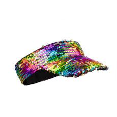 Zonneklep Rainbow pailletten