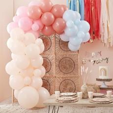 Luxe Ballonnenboog Muted Pastels Backdrop