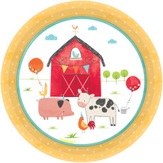 Feestbordjes Boerderij Happy Farm 18cm (8st)