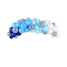 Ballonboog Kit Blauw/Zilver 200cm