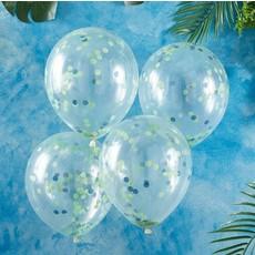 Confetti ballonnen Groen/Blauw Roarsome (5st)